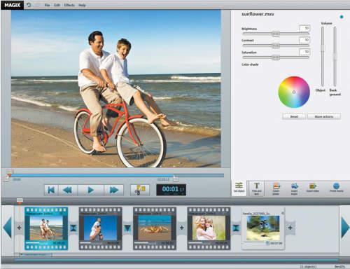 Capture d'écran MAGIX Video easy