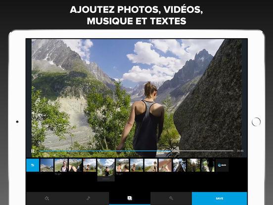 Capture d'écran Quik Editeur Vidéo iOS