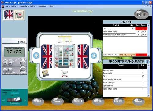 Capture d'écran Gestion-Frigo