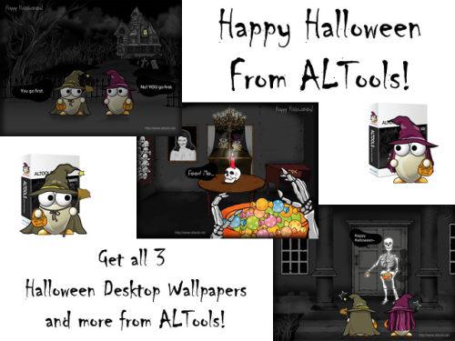 Capture d'écran ALTools Haunted House Halloween Desktops