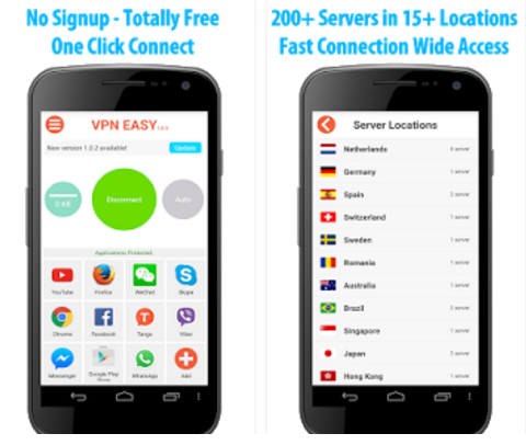 Capture d'écran VPN Easy Android