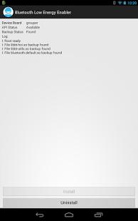 Capture d'écran Bluetooth Low Energy Enabler