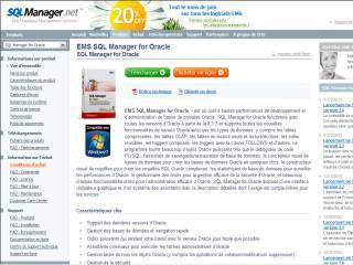 Capture d'écran EMS SQL Manager for Oracle