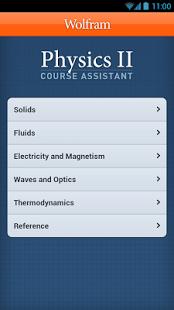Capture d'écran Physics II Course Assistant