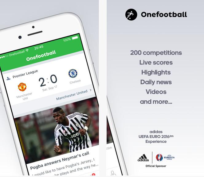 Capture d'écran Onefootball iOS