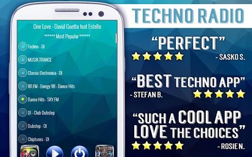 Capture d'écran Radio Techno