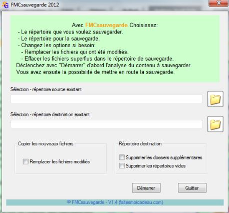 Capture d'écran FMCsauvegardePlus