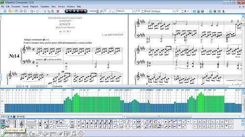 Capture d'écran Maestro Composer