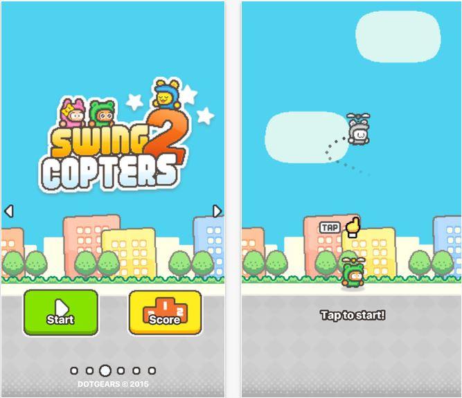 Capture d'écran Swing Copters 2 Android