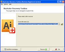 Capture d'écran Illustrator Recovery Toolbox