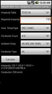 Capture d'écran Electrical Calculator