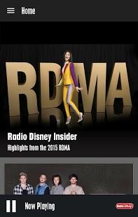 Capture d'écran Radio Disney