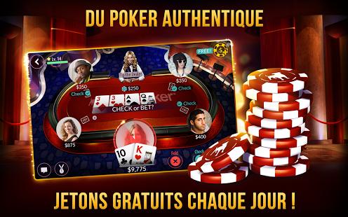 Capture d'écran Zynga Poker