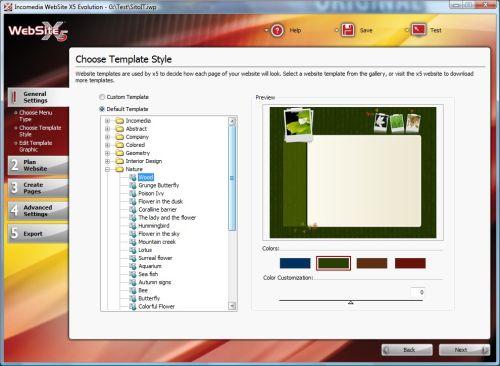 Capture d'écran WebSite X5 Evolution 8