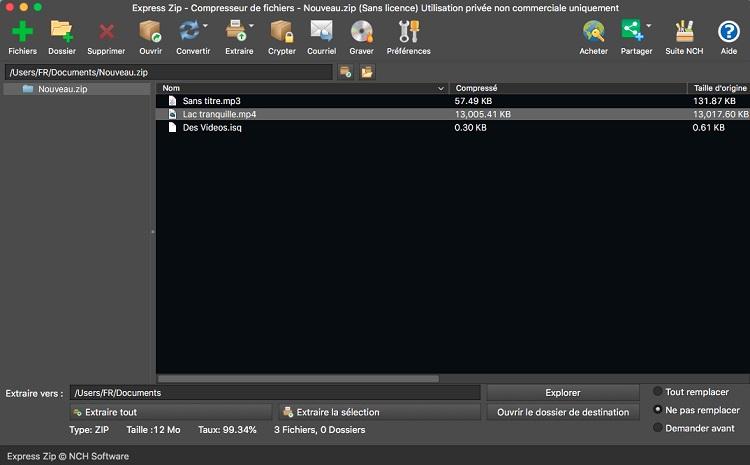 Capture d'écran Express Zip – Compresseur de fichiers pour Mac