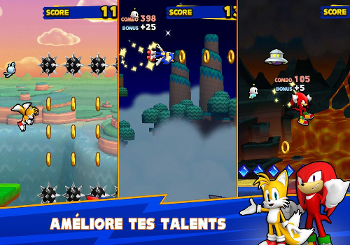 Capture d'écran Sonic Runners Android