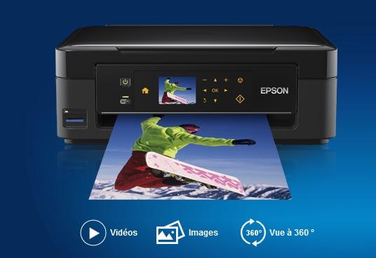 Capture d'écran Pilotes Imprimantes Epson XP