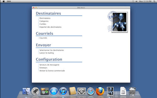 Capture d'écran EMA MAC