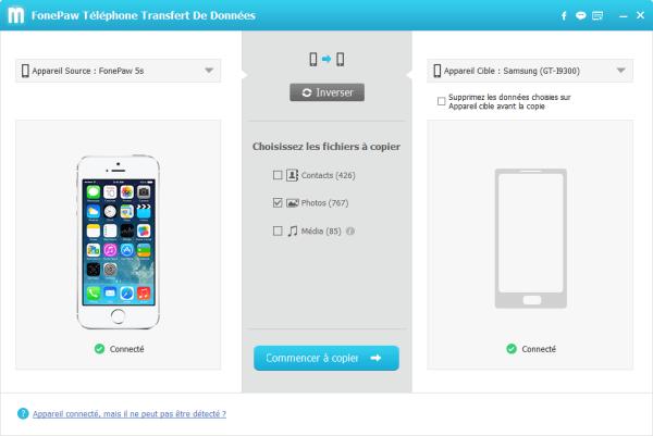 Capture d'écran FonePaw Téléphone Transfert De Données