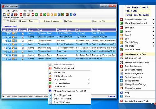Capture d'écran Auto Shutdown Pro II 4.5.0.0