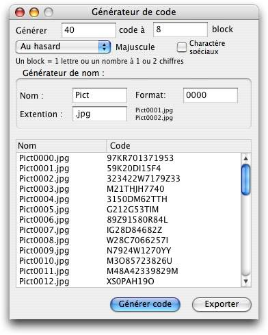 Capture d'écran GenOCode