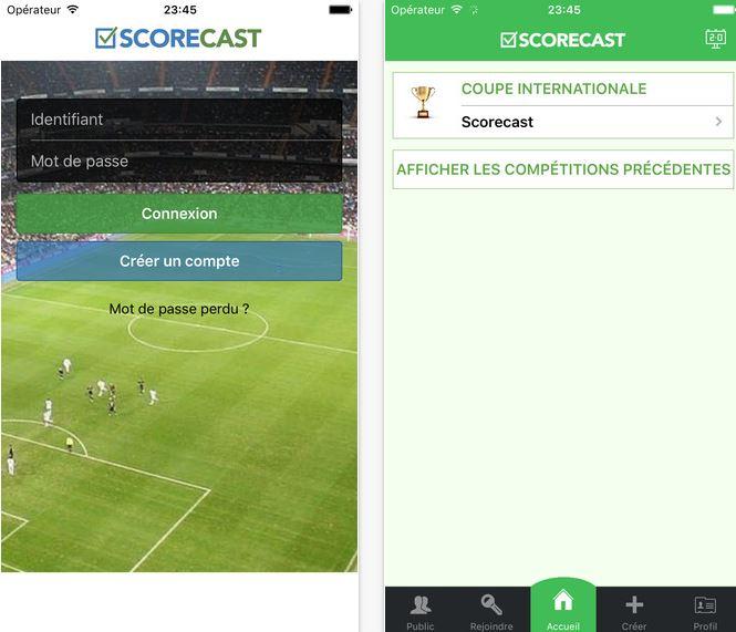 Capture d'écran Scorecast Free- Euro 2016 iOS