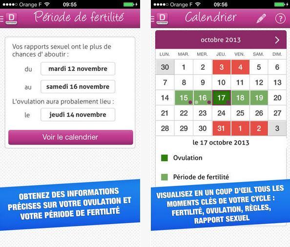 Capture d'écran Mon ovulation : calendrier de fertilité iOS