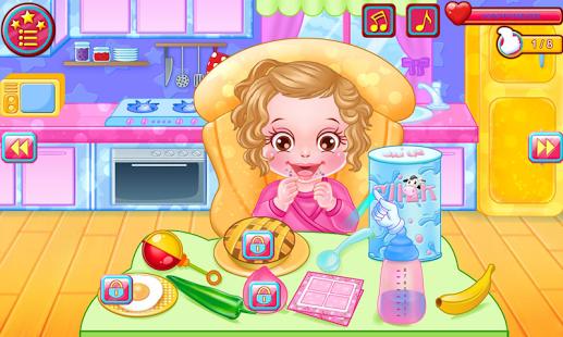 Capture d'écran Jeux soins de bébé avec Anna