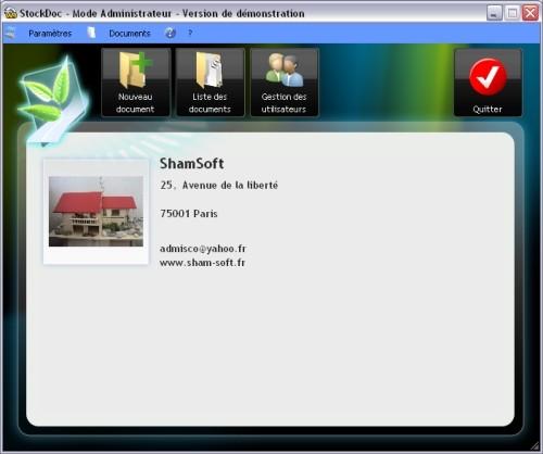 Capture d'écran StockDoc