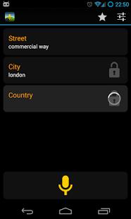 Capture d'écran Navigation commandes vocales