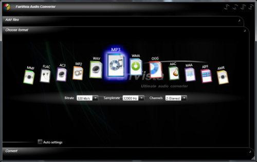 Capture d'écran FanVista Audio Converter