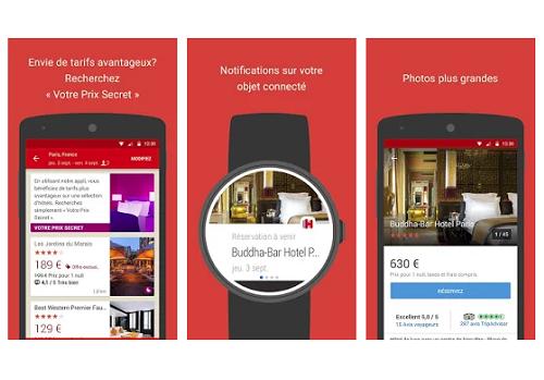 Capture d'écran Hotels.com iOS