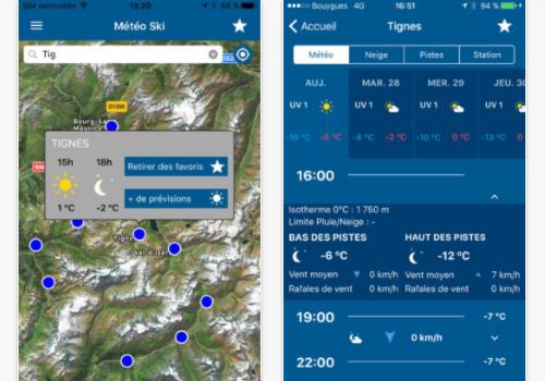 Capture d'écran Météo France Ski et Neige pour iOS