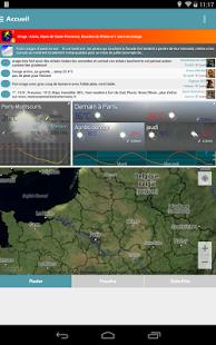 Capture d'écran Infoclimat – météo temps réel