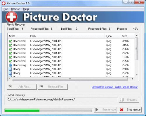 Capture d'écran SoftOrbits Jpeg Repair