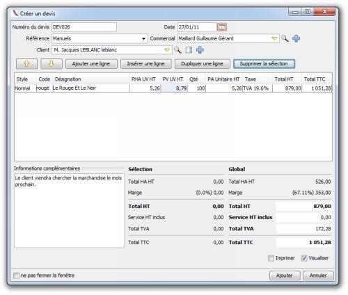 Capture d'écran OpenConcerto