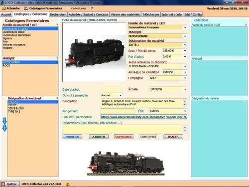 Capture d'écran LOCO-Collector