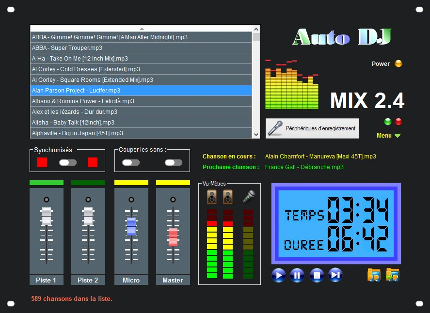 Capture d'écran Auto DJ