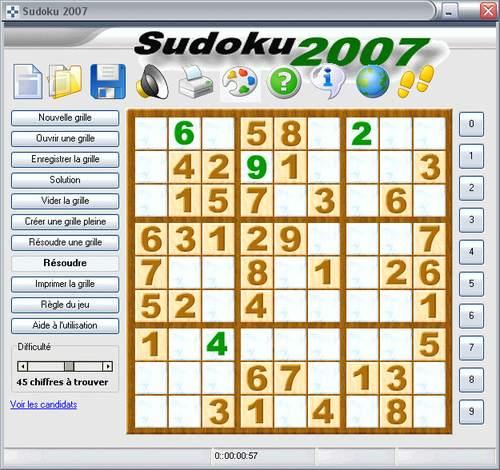 Capture d'écran SUDOKU 2007