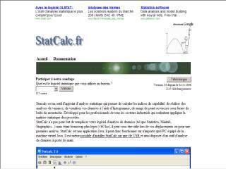Capture d'écran Statcalc