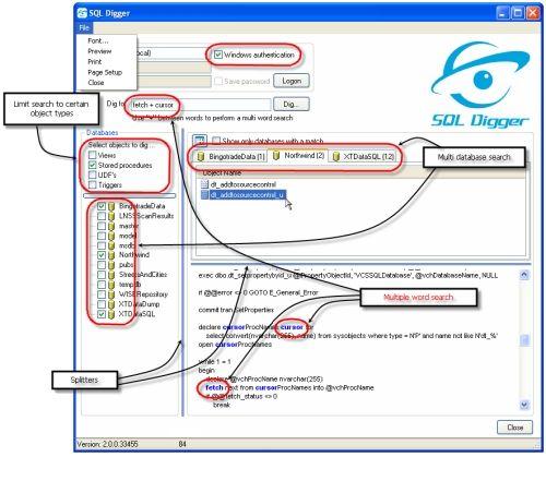 Capture d'écran SQL Digger