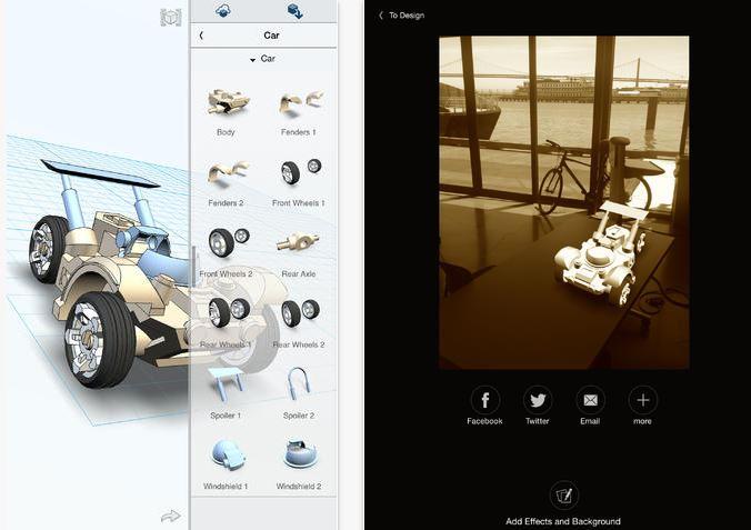 Capture d'écran 123D Design iOS