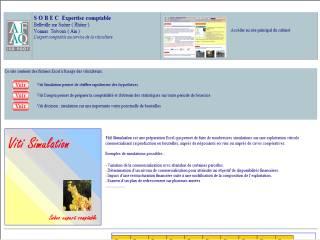 Capture d'écran Viti statistiques