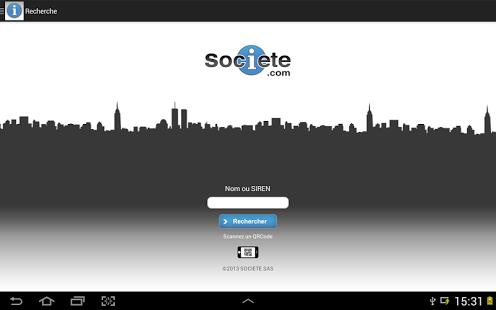 Capture d'écran Societe.com
