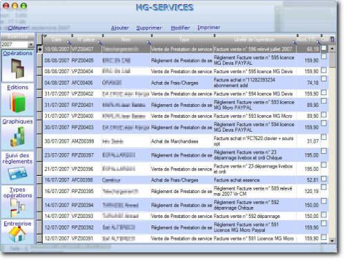 Capture d'écran MG Micro