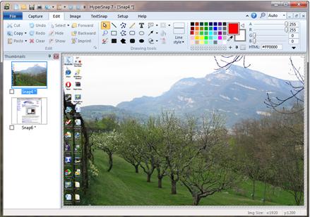 Capture d'écran HyperSnap