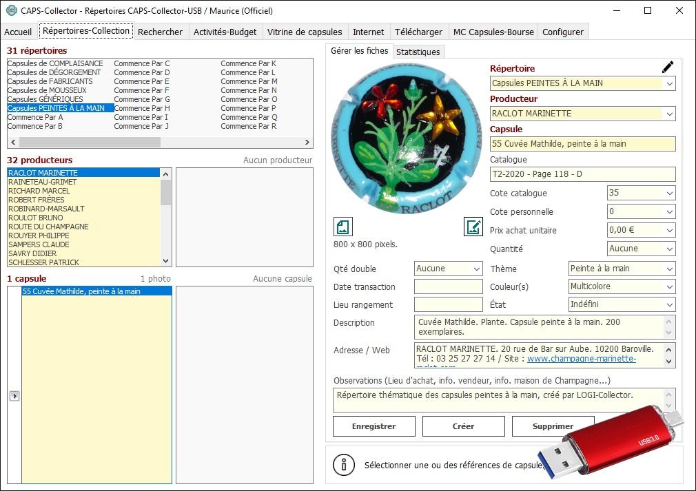 Capture d'écran CAPS-Collector
