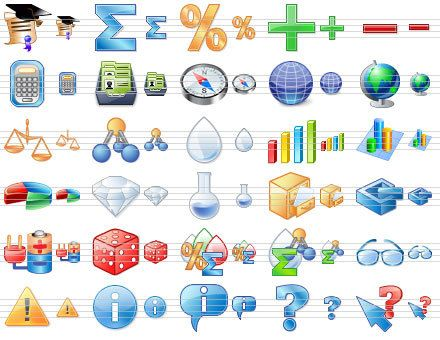 Capture d'écran Science Toolbar Icons