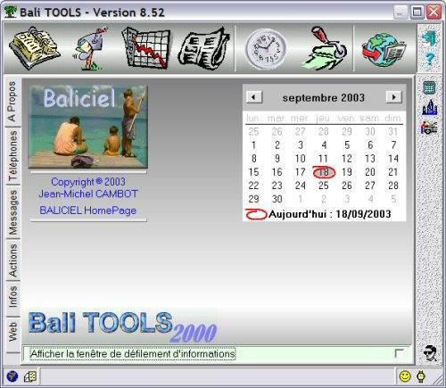 Capture d'écran Bali TOOLS