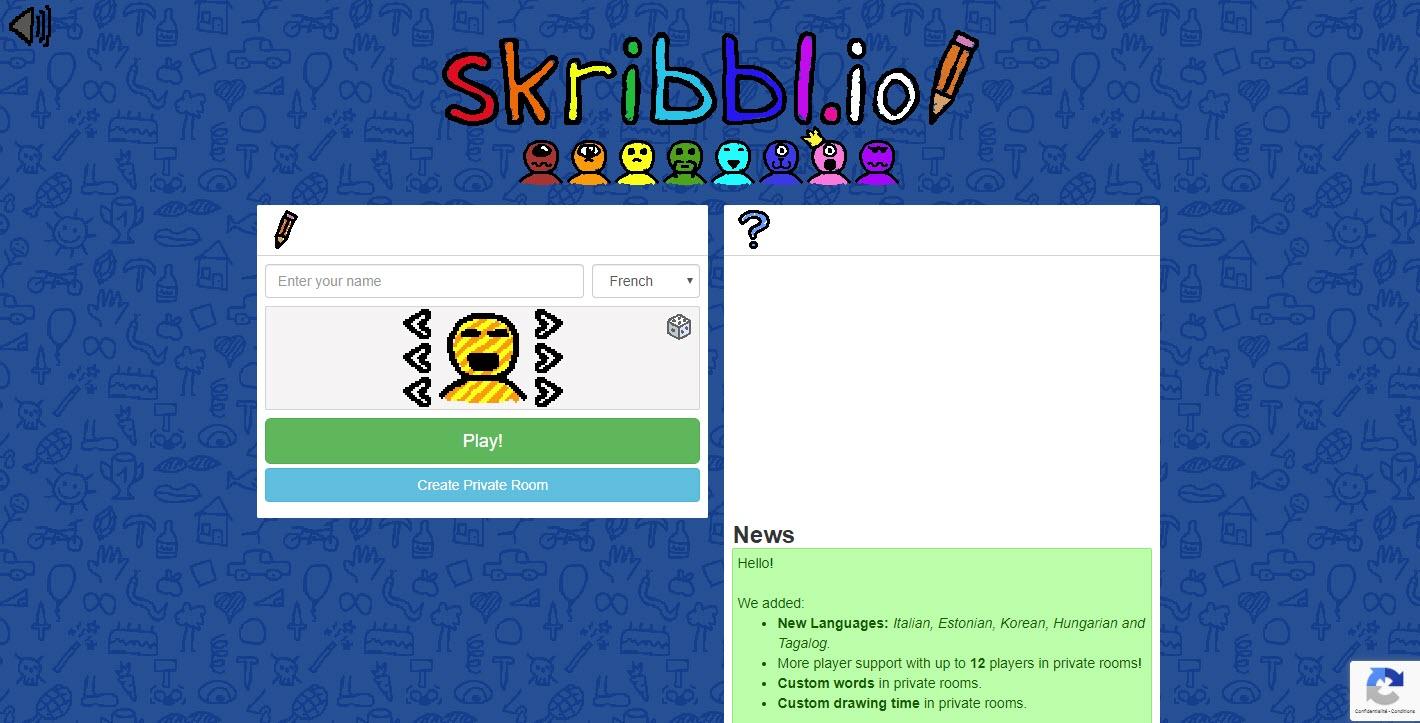 Capture d'écran Skribbl